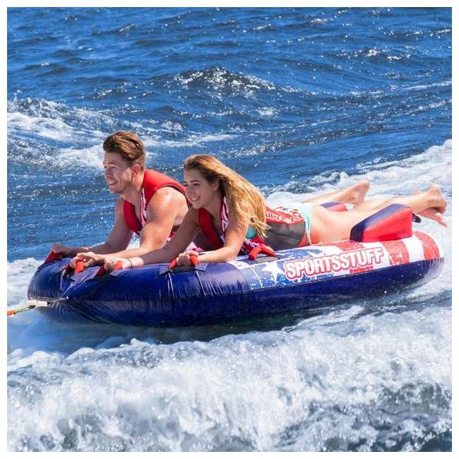 53-4312 SportsStuff Stars & Stripes 2 Rider Towable Inflatable Tube 3