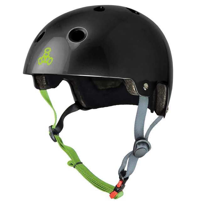 T8-3047-U-A Triple 8 Hardened Dual Certified Skate and Bike Helmet with EPS Liner, S/M