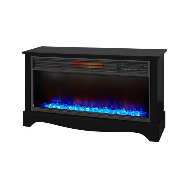 LS-ZCFP1034US-BLACK LifeSmart LifeZone Electric Infrared Quartz Fireplace Heater (2 Pack) 1