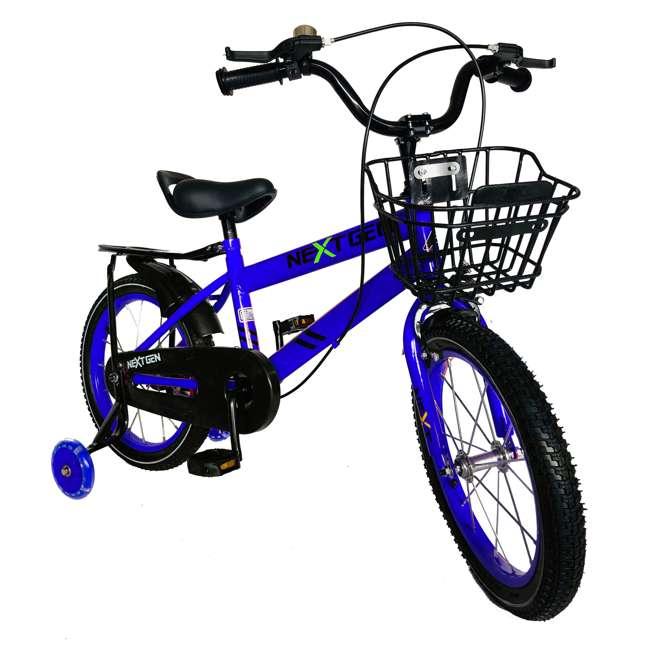 16BK-BLUE NextGen 16 Inch Childrens Kids Bike Bicycle with Training Wheels & Basket, Blue 1