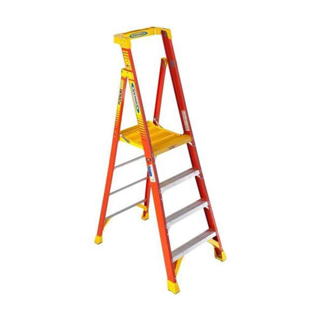 W-PD6204 Werner 4 ft Fiberglass Podium Ladder - OMA