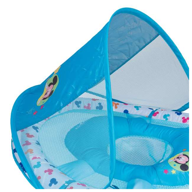 25440-SW-U-A SwimWays Inflatable Infant Baby Pool Float w/ Canopy, Mickey Mouse (Open Box) 5