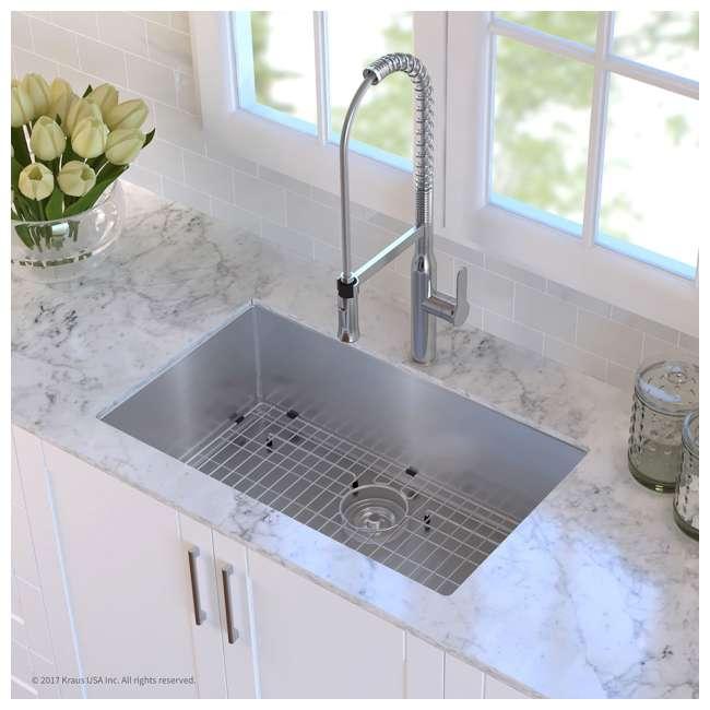 KHU100-32-OB Kraus 32-Inch Rectangular Undermount Stainless Steel Kitchen Sink (OPEN BOX) 2