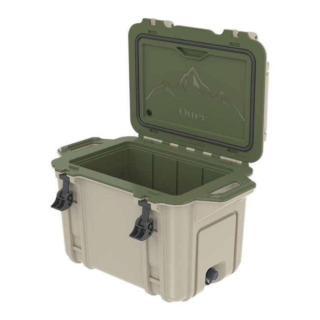 77-54463 Otterbox Venture Heavy Duty Outdoor Camping Fishing Cooler 45-Quarts, Tan/Green
