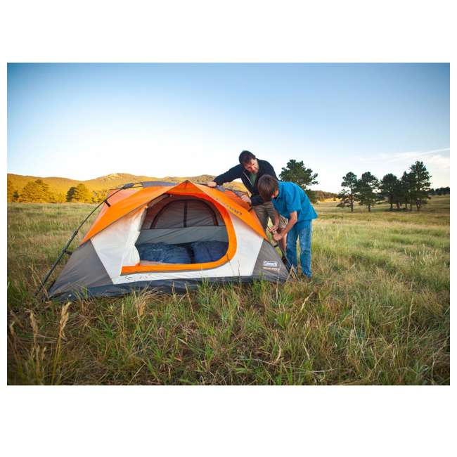 Coleman Signature 3 Person Instant Dome C&ing Tent w/Built-In Rainfly | 7u0027 x 7u0027  sc 1 st  VMInnovations & Coleman Signature 3 Person Instant Dome Camping Tent w/Built-In ...