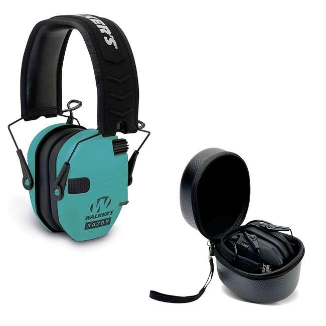 GWP-RSEM-LTL + GWP-REMSC Walkers Electronic Bluetooth Ear Muffs & Storage Carrying Case