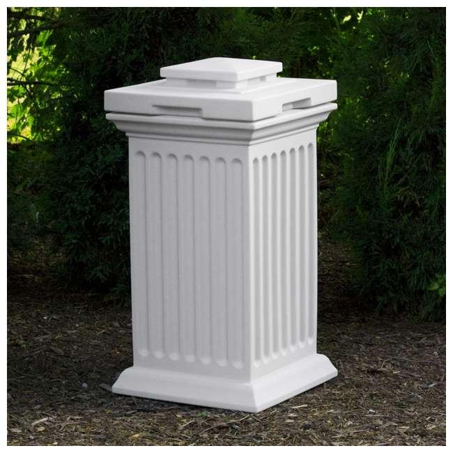 SV-COL-WHI Good Ideas Savannah Patio Outdoor Column 30 Gallon Storage and Waste Bin, White 3