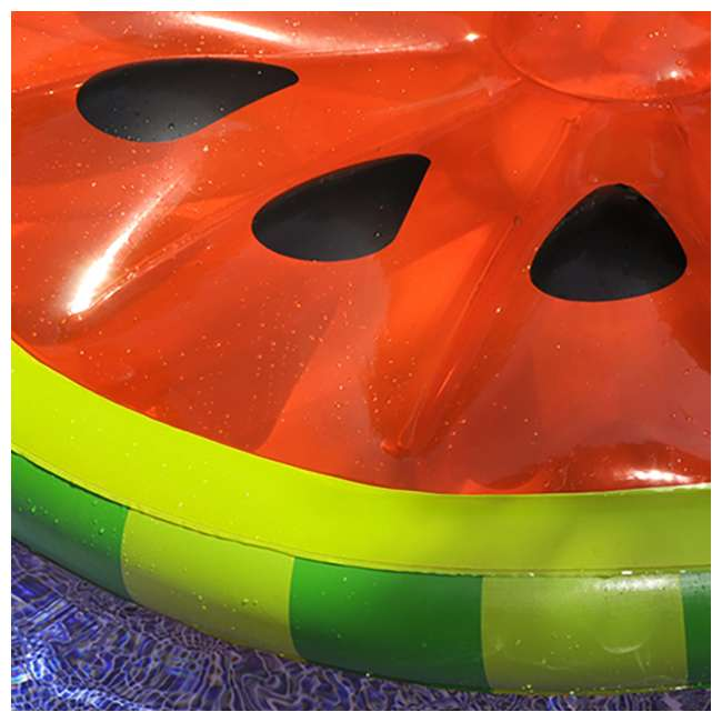 6 x 90544 Swimline Inflatable Watermelon Slice Island Raft (6 Pack) 2