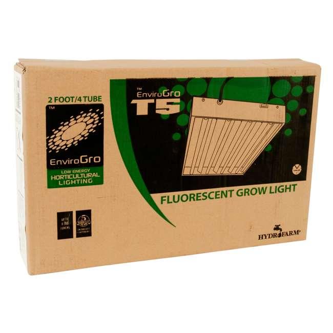 FLT24 + JS10065 Hydrofarm EnviroGro Light Fixture and Jump Start 2Ft Hydroponic Grow Light Stand 5
