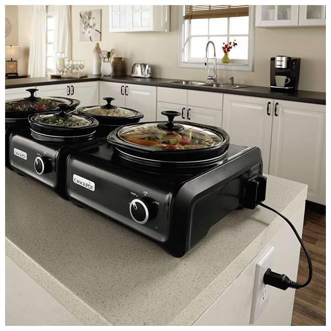 SCCPMDPK25CH Crock-Pot Hook Up 2-Quart Connectable Entertaining Slow Cooker System, Black 4