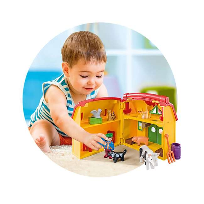 6962 Playmobil 6962 My Take Along Farm Doll House & Interactive Action Figures Set 5
