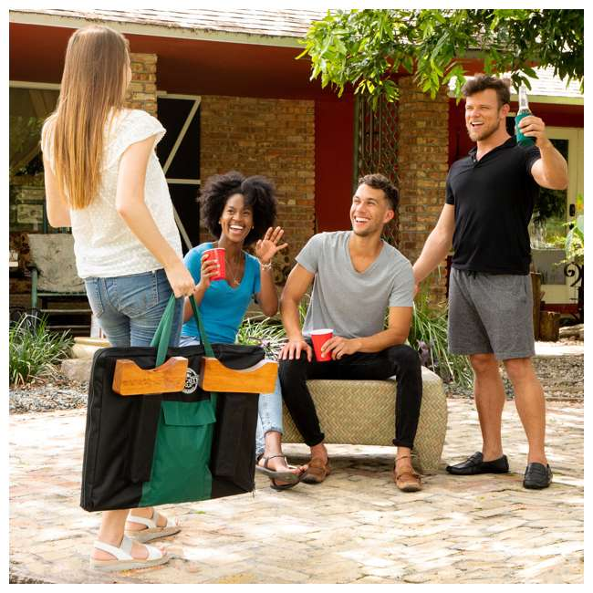 LG100Y19031 Lancaster Gaming Company Giant 4 In A Row Wooden Outdoor Gaming Set w/ Carry Bag 7
