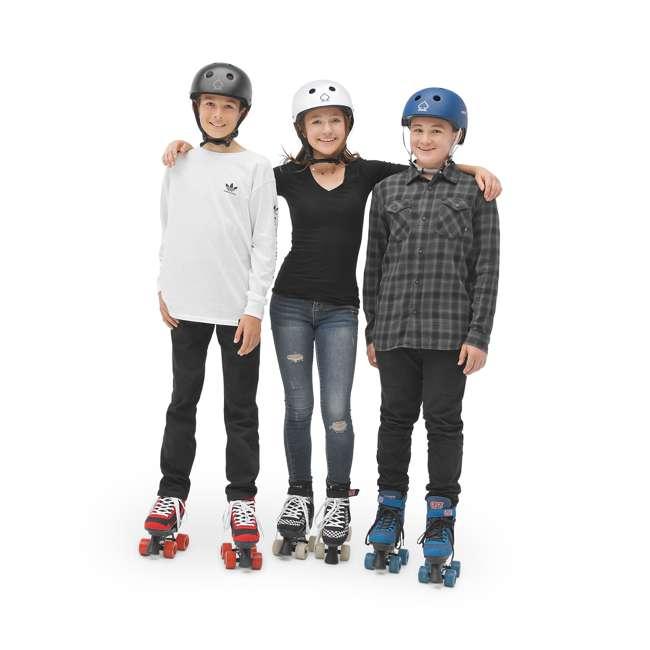 168221 Circle Society Street Checkered Kids Skates, Sizes 3 to 7 5