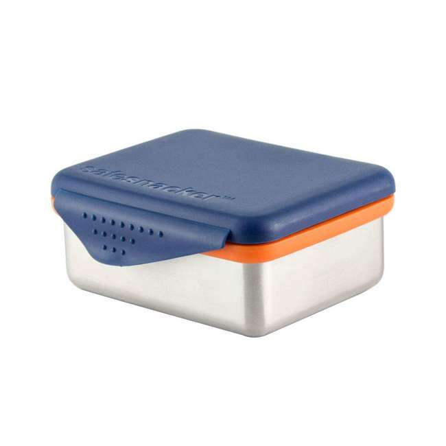 894148002916 + 796515002850 Kid Basix 13 Ounce Safe Snacker Container with Attached Lid 2 Pack, Blue & Navy 6