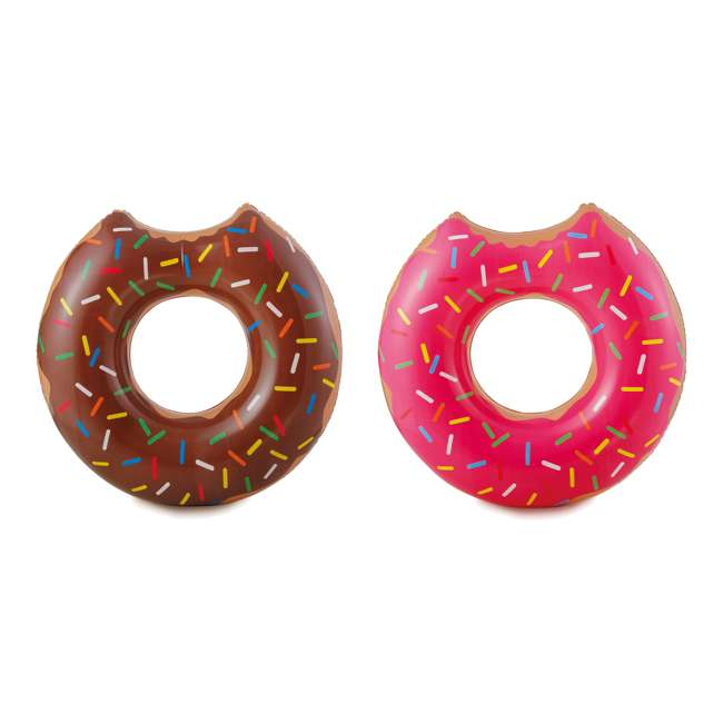 P4A02252B167 + 2 x K10427000167 Summer Waves 22 Ft Above Ground Pool Set + Giant Donut Inflatable Float (2 Pack) 2