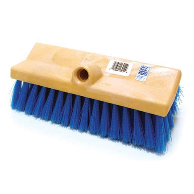 B3518 + B3525 + B3012 + 8358M Blue Devil 18 Inch Brush, 360 Brush, Deck and Acid Brush and Swimline Pool Pole 3