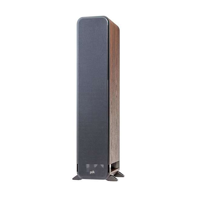 Signature-S55-Medium-Tower-Walnut - OB Polk Signature S55 Series Audio American HiFi Home Theater Tower Speaker Walnut