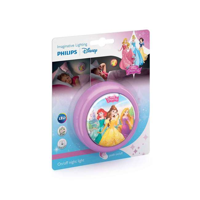 PLC-7192428U0 + 2 x PLC-7179628U0 Philips Disney LED Night Light w/ Philips Disney Princess Lamp (2 Pack) 3