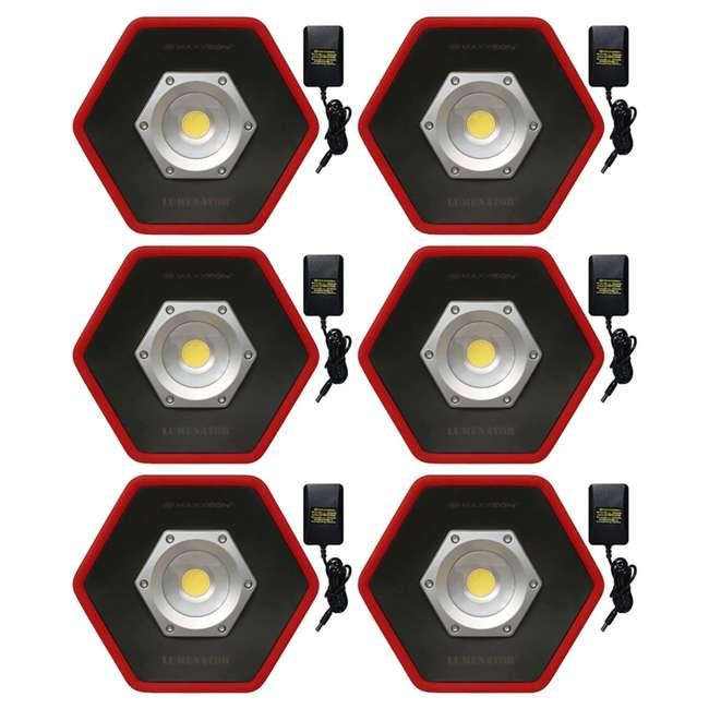 6 x MXN05000 Maxxeon Workstar 5000 Lumenator Commercial Grade LED Work Light, Red (6 Pack)