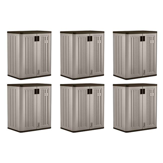 6 x BMC3600 Suncast Garage Base Storage Cabinet, Platinum (6 Pack)