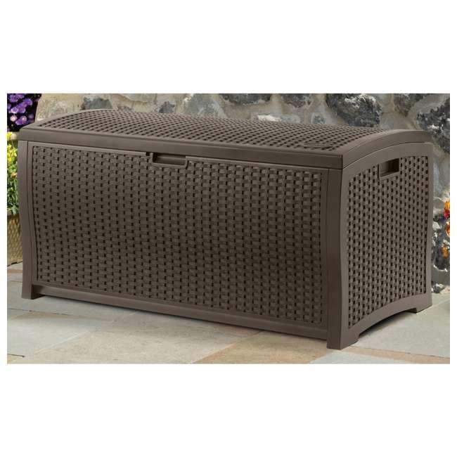BMOC4100 + DBW9200 Suncast Elements 97 Gal Backyard Storage Entertaining Station w/ 99 Gal Pool Box 5