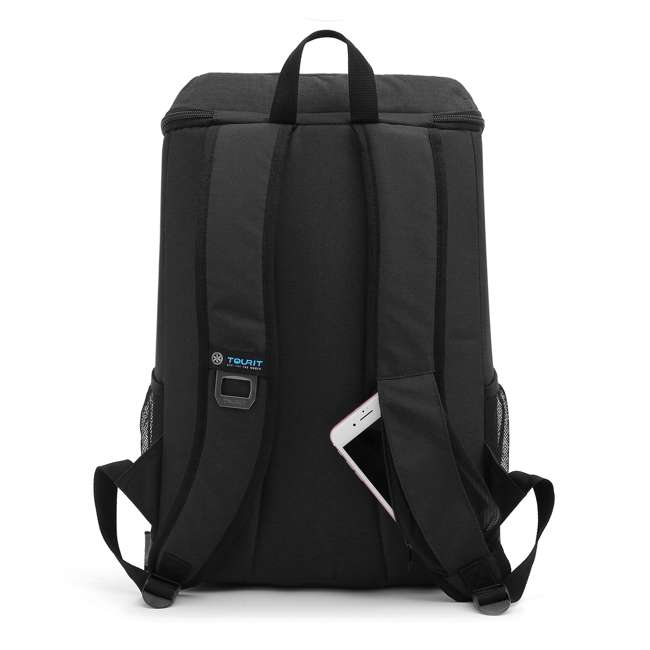 TR0260008B001 TOURIT Cygnini TR0260008B001 Insulated Leak-proof 21 Can Cooler Backpack, Black 1