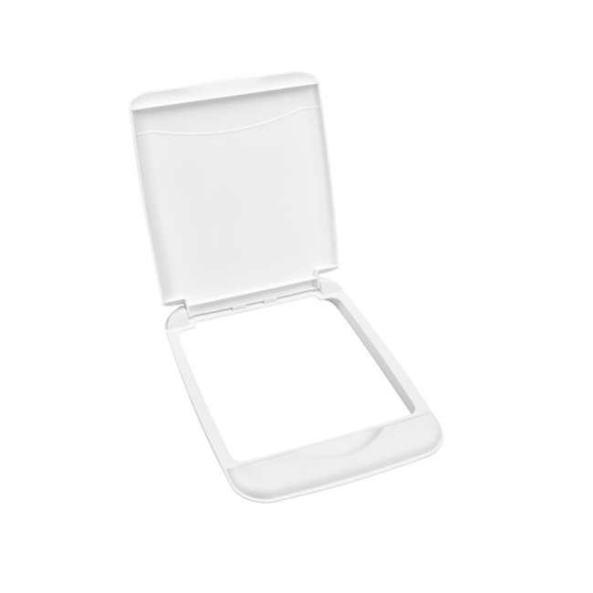 RV-35-LID-1 Rev-A-Shelf RV-35-LID-1 35 Quart Plastic Flip Top Waste Container Lid, White