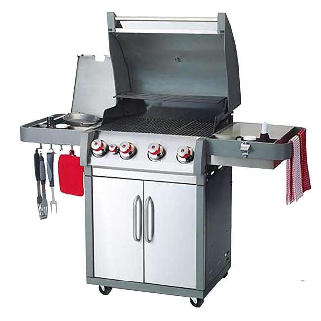 BOP-78001-U-C Coleman XTR4 4 Burner Propane Gas Stainless Steel Backyard BBQ Grill (For Parts) 2