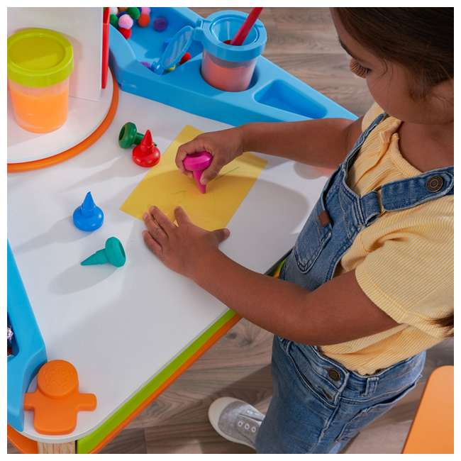 10091 Kidcraft 10091 Ultimate Creation Station Kids Activity Art Table with Two Stools 4