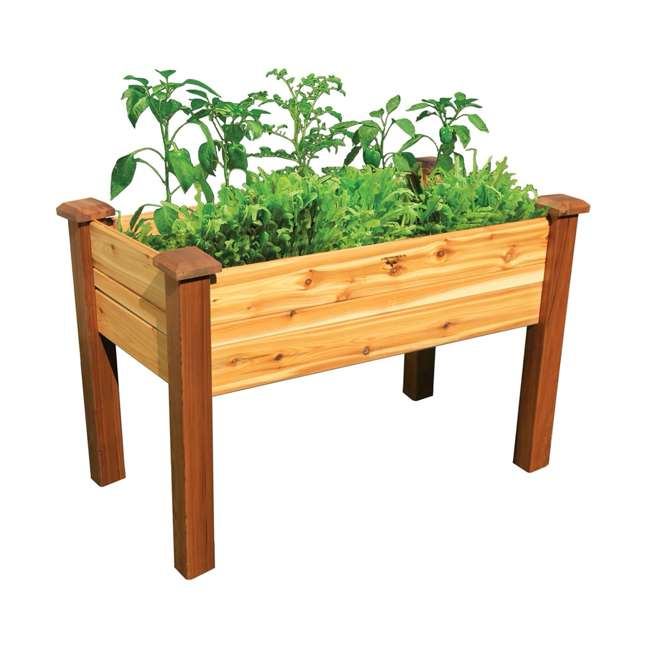 EGBD 24-48S Gronomics Western Red Cedar Elevated Garden Bed 24 x 48 x 30 Inches, Finished 1