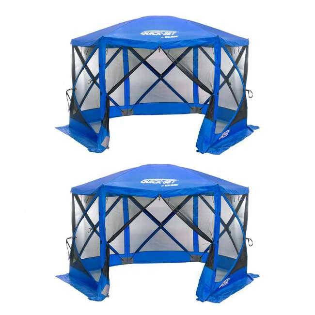 CLAM-ESS-14203 Quick Set Escape Sport Tailgate Tent, Blue/Blue (2 Pack)
