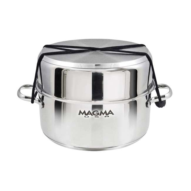 A10-366-2-IND Magma 10 Piece Scratch Resistant Stainless Steel Non Stick Nesting Cookware Set 2