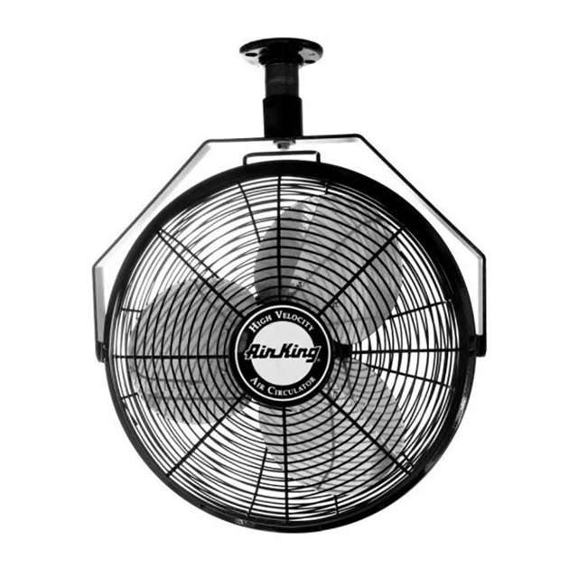 "AK-9718-PA-U-B Air King 18"" 1/16 HP 3 Speed Non-Oscillating Enclosed Ceiling Mount Fan (Used) 3"