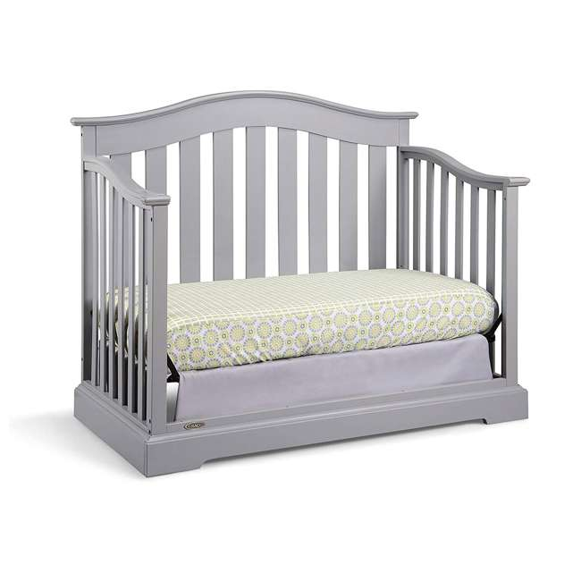 04550-04F + 06711-300 Graco Westbrook 4-in-1 Crib in Pebble Gray w/ Foam Mattress 2