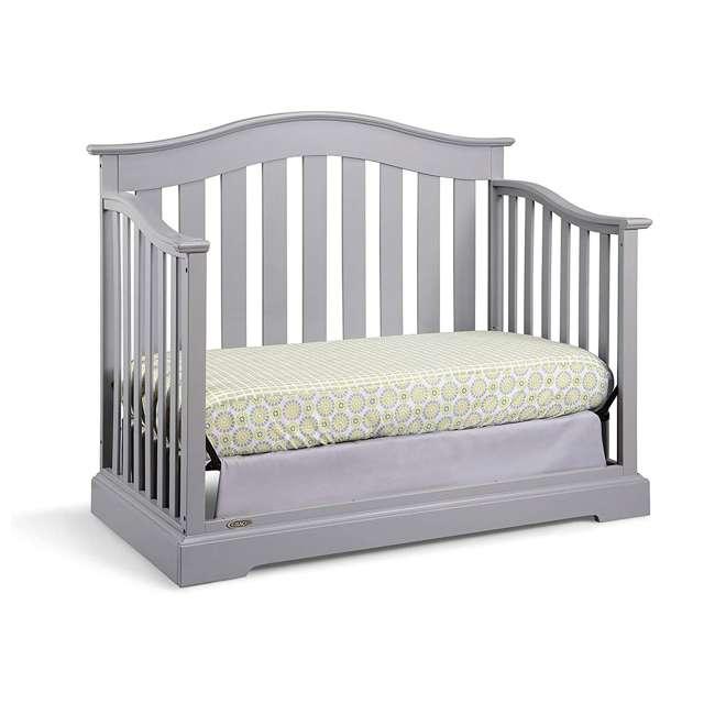 04550-04F + KM001-WGT1 Graco Westbrook Crib, Pebble Gray & Kolcraft Fresh Start Mattress 3