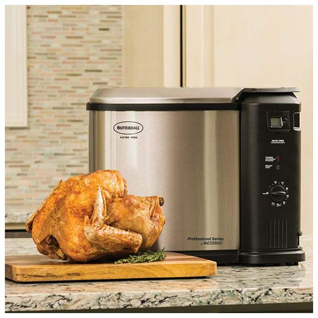 BB-MB23010618 Masterbuilt Butterball XL Electric Turkey Fryer, Stainless Steel 1