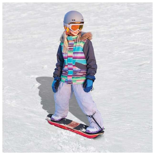 AHSS-04 Airhead AHSS-04 Snow Rip Hard Wood 31 Inch Snow Skate Skateboard Snowboard, Red 1
