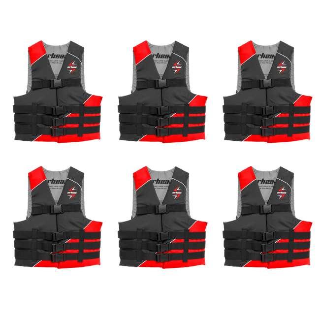 6 x 10091-07-A-RD Airhead Slash Adult XS Life Vest (6 Pack)
