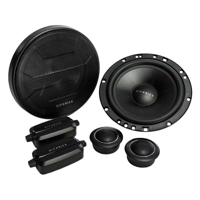 ZS65C Hifonics 6.5-Inch 2-Way 400-Watt Component Speakers Systems (2 Pack) 1