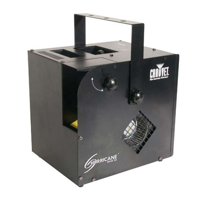 HURRICANE-HAZE2D + FJU + MINISTROBE-LED + BLACK-48 CHAUVET Fog Machine w/ Mini Strobe Light Effect, Black Light & Fog Fluid 1
