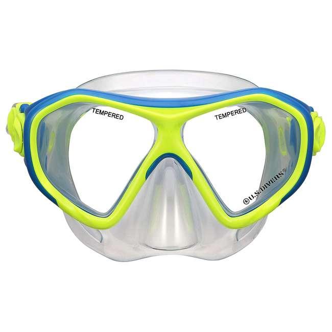 281094 U.S. Divers Kids Dorado Mask Proflex Fins & Sea Breeze Snorkel Combo Set, Yellow 1