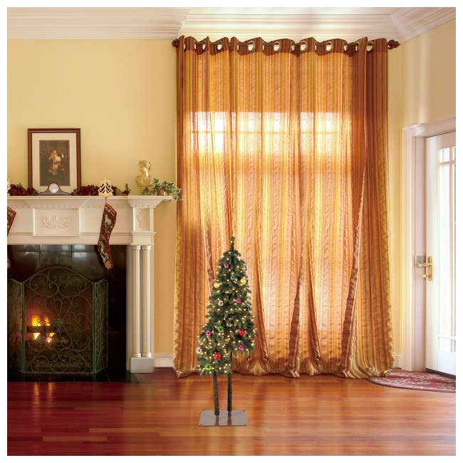 TV50P2819L01 Home Heritage True Bark 3 Foot & 5 Foot Twin Christmas Trees with White Lights 6