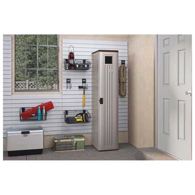 BMC5800 Suncast Tall Easy Assembly Garage Cabinet Storage Locker with Vent (2 Pack) 3