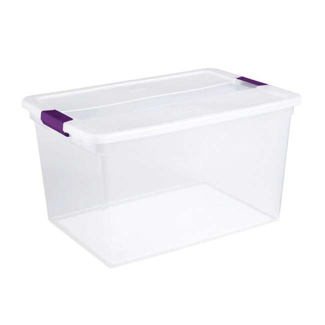12 x 17571706 + 90438 Sterilite 66 Qt Storage Box (12 Pack) Bundled with VELCRO® Brand Cable Ties (5 Pack) 1