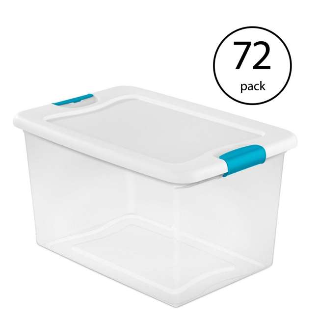 72 x 14978006 Sterilite 64-Quart Latching Storage Box (72 Pack)