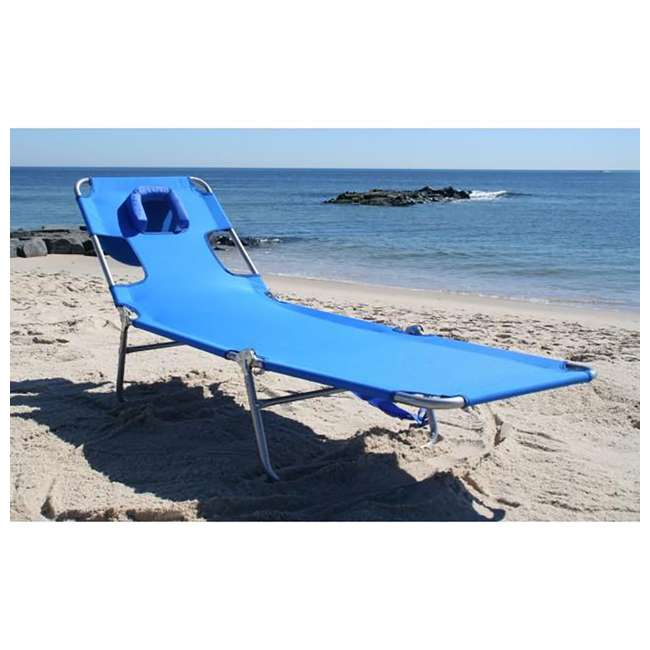3 x CHS-1002B Ostrich Chaise Lounge Folding Portable Sunbathing Poolside Beach Chair (3 Pack) 4