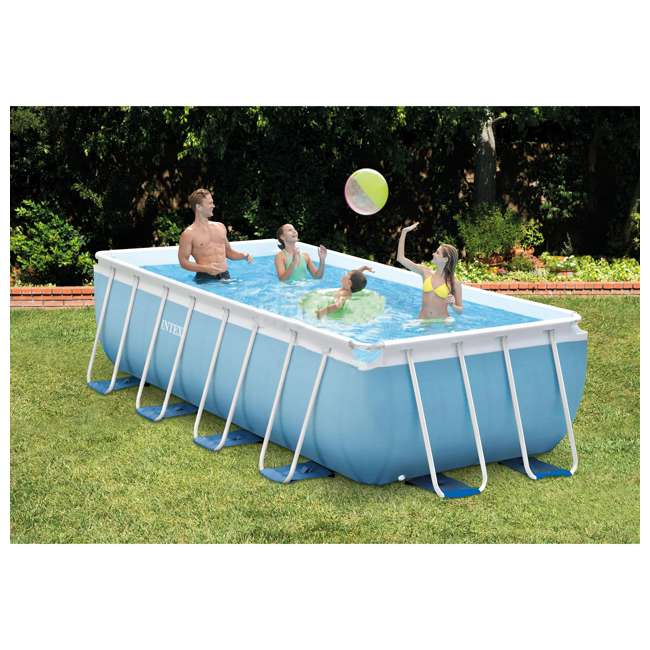 Intex 16 X 8 Feet X 42 Inches Prism Frame Pool Set 28317eh