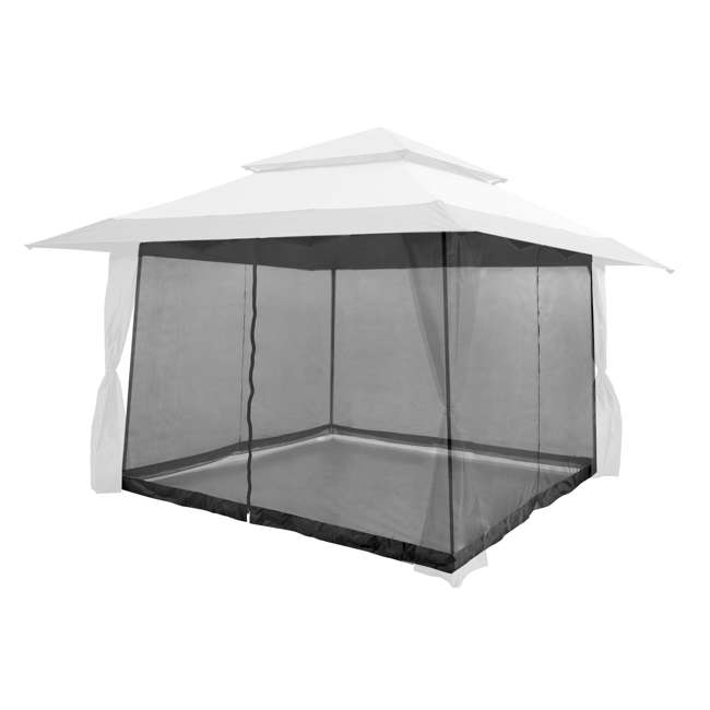 ZS13GAZGRY + ZS13SRGAZVM Z-Shade 13 x 13 Foot Instant Gazebo Canopy Outdoor Shelter with Bug Screen, Gray 7