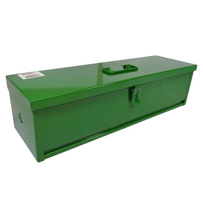 RE-102423 RanchEx Steel 16 Inch Portable Mounting Tool Box for Vehicles Green