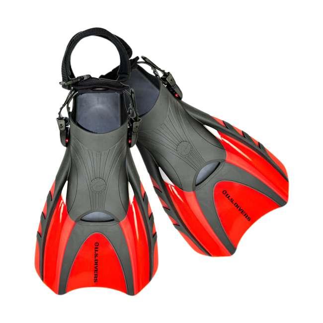 241795 U.S. Divers Red Shredder III Body Surfing & Boarding Fin w/ Leash System, Small